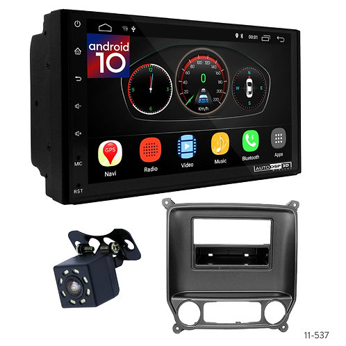 "7"" DSP Car Radio + Fascia Kit for Chevrolet Silverado 14+ / GMC Sierra 14+"