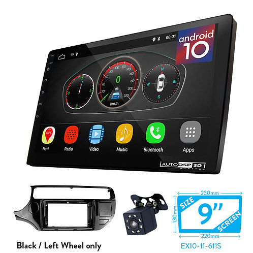 "9"" Android 10 Car Stereo + Fascia Kit for KIA Rio (UB), K3 2015-2017"