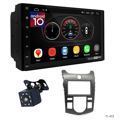 "7"" DSP Car Radio+Fascia Kit Compatible with KIA Cerato(TD), Forte(TD), Naza Fort"
