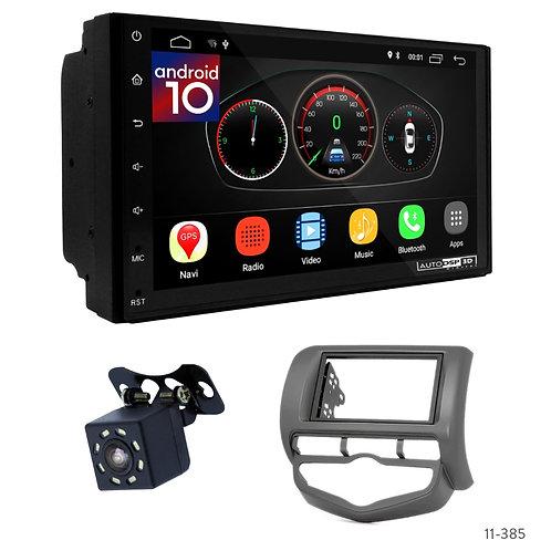"7"" DSP Car Radio+Fascia Kit Compatible with Honda Fit, Jazz 02-08 (Left Hand Dri"