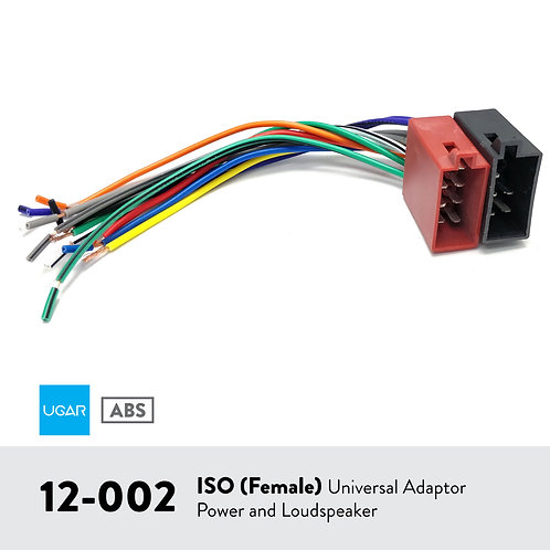 UGAR 12-002 ISO (Female) / UNIVERSAL ADAPTER POWER AND LOUDSPEAKER