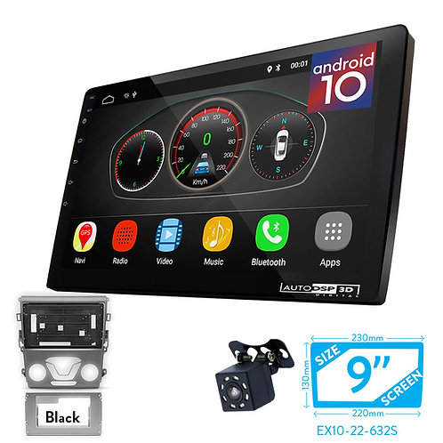 """9"""" DSP Car Radio+Fascia Kit Compatible with Ford Mondeo 2013+"""