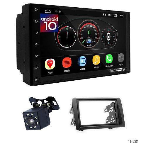 "7"" DSP Car Radio+Fascia Kit Compatible with Fiat Idea (350) 03-07"