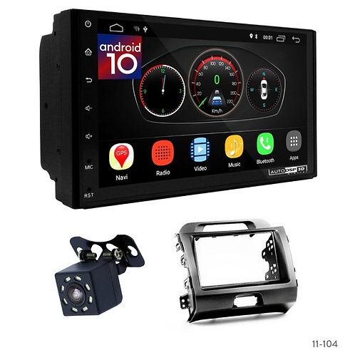 "7"" DSP Car Radio+Fascia Kit Compatible with KIA Sportage (SL) 10-16"