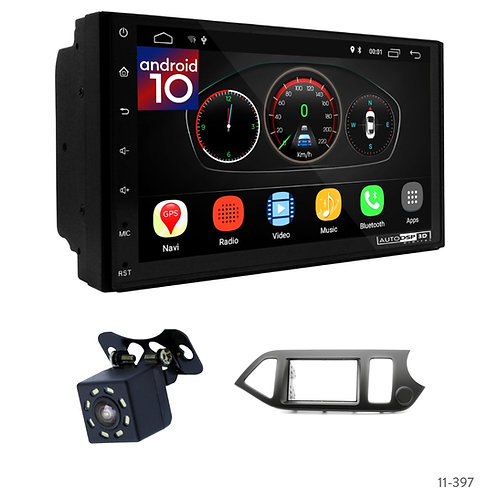 "7"" DSP Car Radio+Fascia Kit Compatible with KIA Picanto (TA), Morning (TA) 11+"