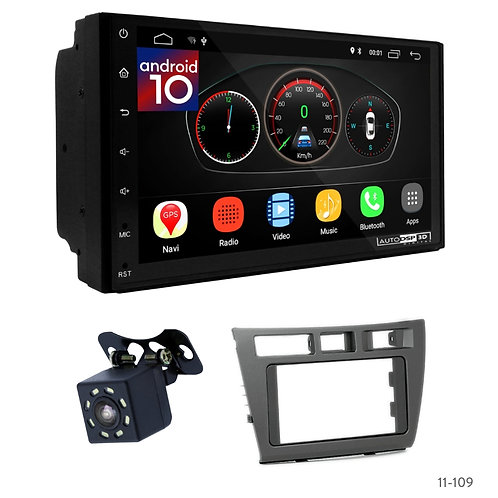 "7"" DSP Car Radio+Fascia Kit Compatible with Toyota Mark II (JZX110) 00-04; Veros"