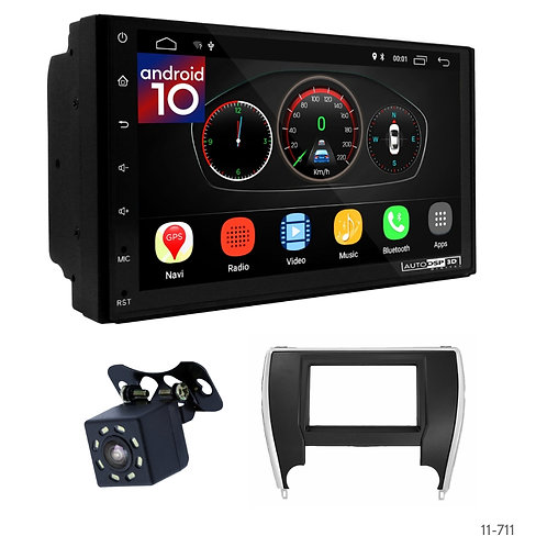 """7"""" DSP Car Radio+Fascia Kit Compatible with Toyota Camry 2015+"""