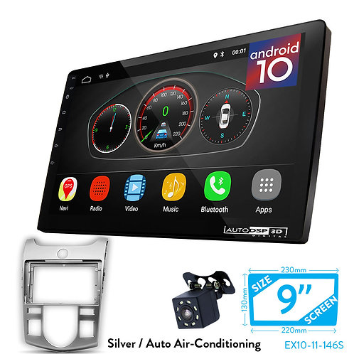 "9"" DSP Car Radio+Fascia Kit Compatible with KIA Cerato(TD), Forte(TD), Naza Fort"
