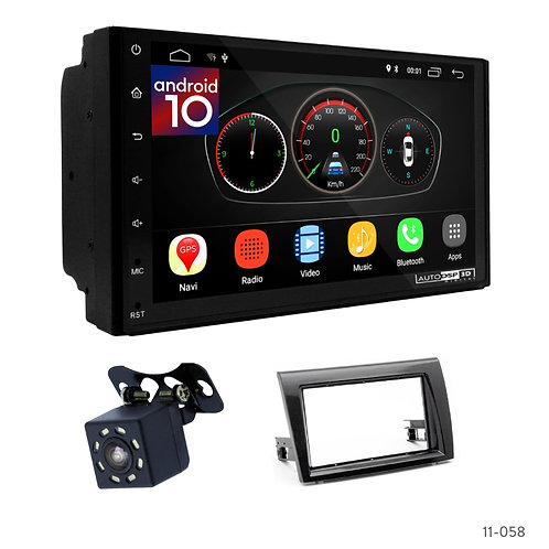 "7"" DSP Car Radio+Fascia Kit Compatible with Fiat Bravo (198) 06+"