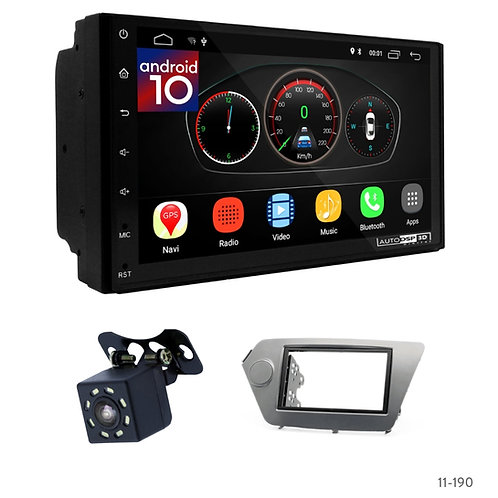 "7"" DSP Car Radio+Fascia Kit Compatible with KIA Rio (QB), K2 (QB) 11+"