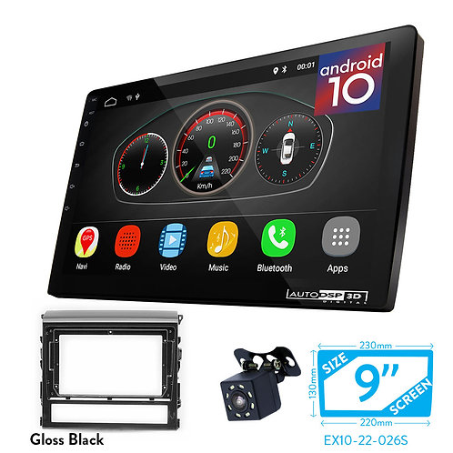 """9"""" DSP Car Radio+Fascia Kit Compatible with TOYOTA Land Cruiser 200 (V8) 2015+"""