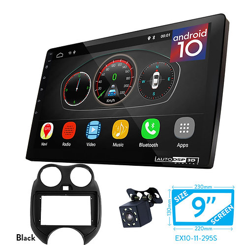 """9"""" Android 10 Car Stereo + Fascia Kit for NISSAN Micra, March (K13) 2010-2013"""
