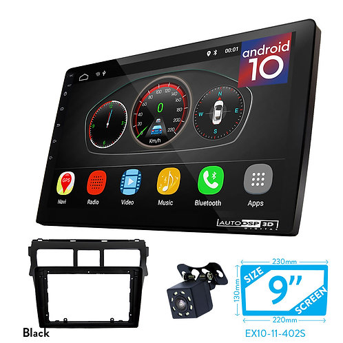 "9"" DSP Car Radio+Fascia Kit Compatible with TOYOTA Vios 20Belta, Yaris Sedan"