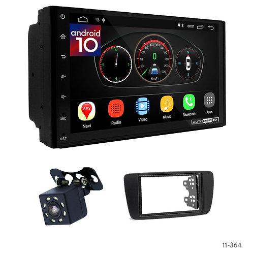 "7"" DSP Car Radio+Fascia Kit Compatible with SEAT Ibiza 08-15"