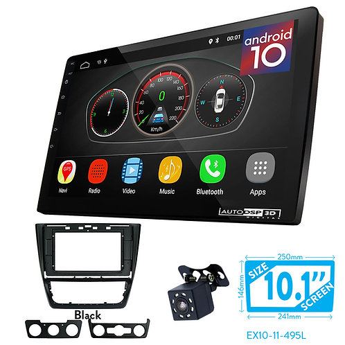 "10"" DSP Car Radio+Fascia Kit Compatible with SKODA Yeti 20"