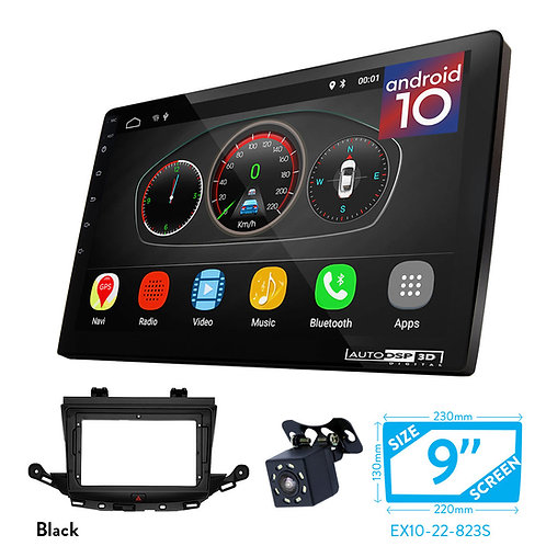 "9"" DSP Car Radio+Fascia Kit Compatible with OPEL (VAUXHALL) Astra (K) 2015+"