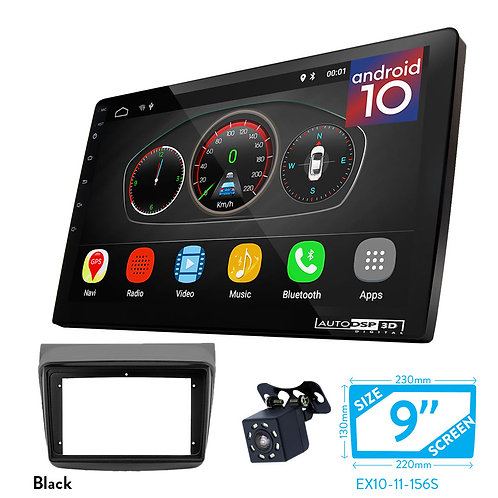 "9"" DSP Car Radio+Fascia Kit Compatible with MITSUBISHI L200, Triton; Pajero Spor"