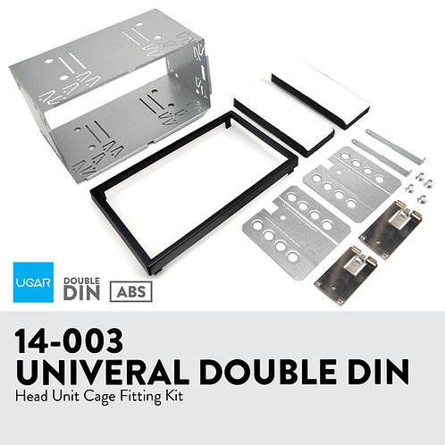 14-003 182 x 102mm Universal Double DIN Installation Slot Metal Mounting