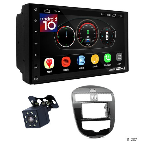 "7"" DSP Car Radio+Fascia Kit Compatible with Nissan Tiida (C12) 20Pulsar 2014+"