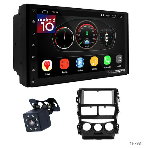 "7"" DSP Car Radio+Fascia Kit Compatible with Toyota Vios 18+, Yaris 17+"
