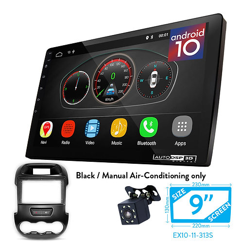"9"" DSP Car Radio+Fascia Kit Compatible with Ford Ranger 2011-2015"