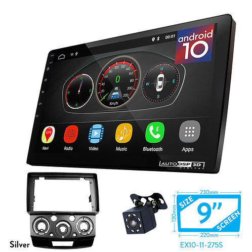 """9"""" DSP Car Radio+Fascia Kit Compatible with Ford Ranger 2006-2011,"""