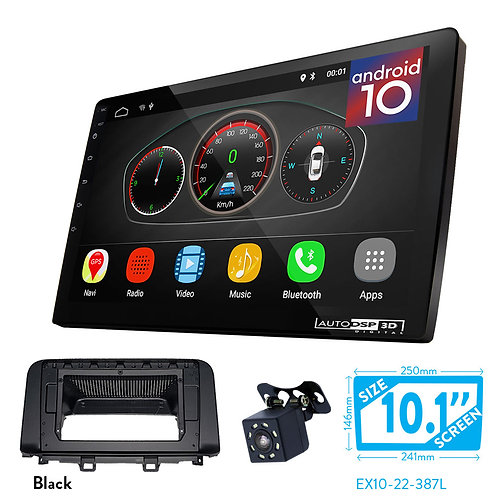 "10"" DSP Car Radio+Fascia Kit Compatible with HYUNDAI Kona 2017+; Kaual, Encino"