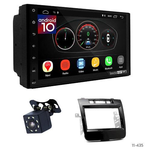 "7"" DSP Car Radio+Fascia Kit Compatible with Volkswagen Touareg 10-14"