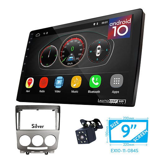 "9"" DSP Car Radio+Fascia Kit Compatible with Ford i-Max / MAZDA (5), Premacy"