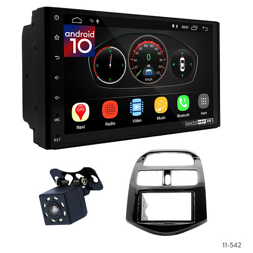 """7"""" DSP Car Radio+Fascia Kit Compatible with Chevrolet Spark(M300)/Holden Barina"""