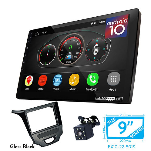 """9"""" Android 10 Car Stereo + Fascia Kit for CHEVROLET Cruze 2016+"""