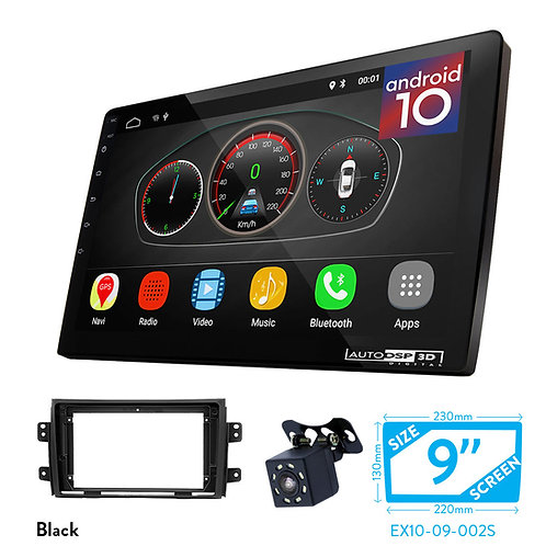 "9"" Android 10 Car Stereo + Fascia Kit for FIAT Sedici 06-14 / SUZUKI SX4 07-14"
