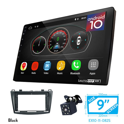 "9"" DSP Car Radio+Fascia Kit Compatible with MAZDA (3), Axela 2009-2013"