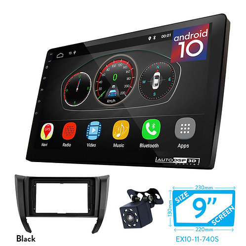 """9"""" Android 10 Car Stereo + Fascia Kit for NISSAN NP300, Navara, Frontier 2017+"""