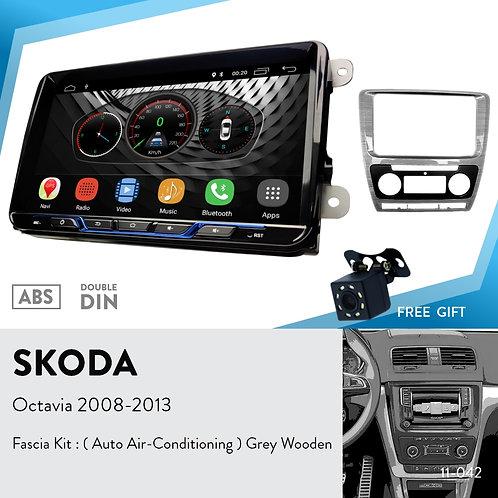 Android9.0 Car Stereo Radio & 11-042 Fascia Kit for Skoda Octavia 2008-13