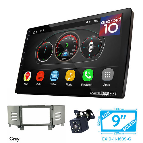 "9"" DSP Car Radio+Fascia Kit Compatible with TOYOTA Mark X , Reiz (Grey Color)"