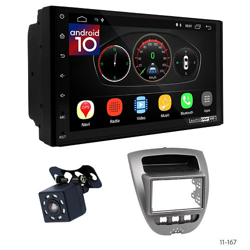 """7"""" DSP Car Radio+Fascia Kit Compatible with Citroen C1/ Toyota Aygo/ Peugeot(107"""