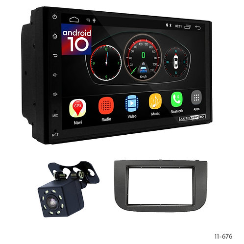 "7"" DSP Car Radio+Fascia Kit Compatible with Mitsubishi Colt (Z30/Z30G/Z3B/Z3V) 0"