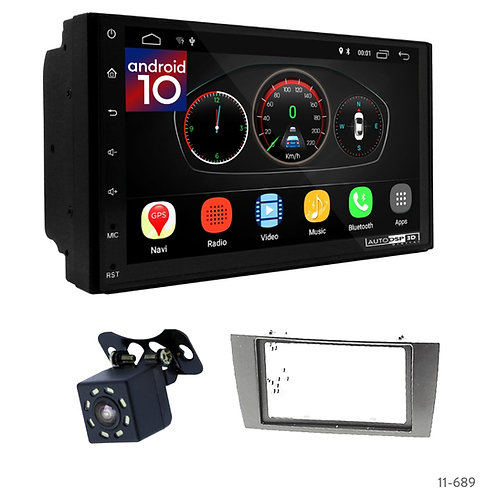 "7"" DSP Car Radio+Fascia Kit Compatible with Jaguar X-Type 02-08, S-Type 03-08"
