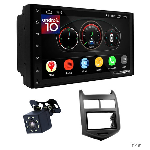 "7"" DSP Car Radio+Fascia Kit Compatible with Chevrolet Aveo, Sonic/Holden Barina"