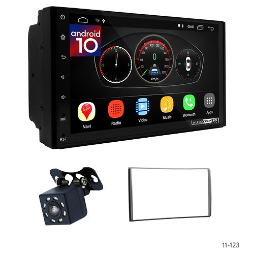 "7"" DSP Car Radio+Fascia Kit Compatible with NISSAN Almera, Sunny; Tiida; X-Trail"