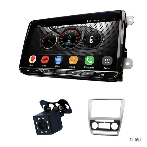 "VW-S 9"" Car Stereo Radio Plus 11-691 Fascia Kit for Skoda Octavia 2008-2013"