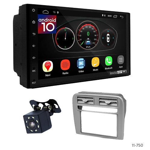 "7"" DSP Car Radio+Fascia Kit Compatible with Fiat Punto (199/310) 05-12, Linea (3"