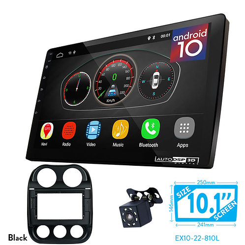 "10"" DSP Car Radio+Fascia Kit Compatible with JEEP Compass 2011-2016"