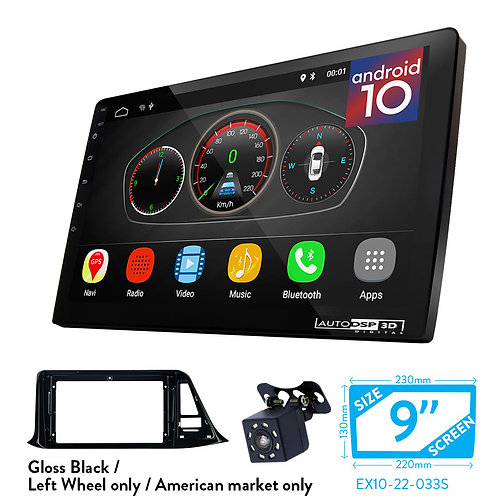 """9"""" DSP Car Radio+Fascia Kit Compatible with TOYOTA C-HR 2018+"""