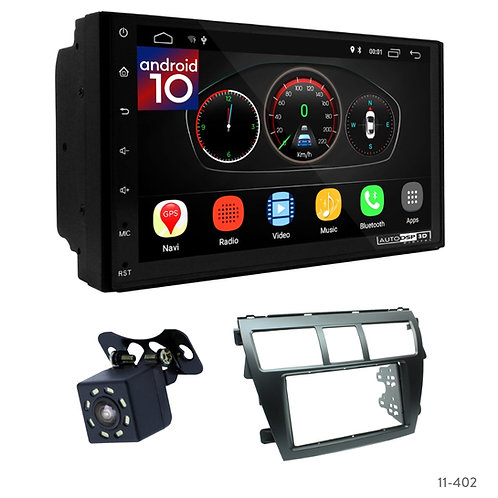 "7"" DSP Car Radio+Fascia Kit Compatible with Toyota Vios, Belta, Yaris"