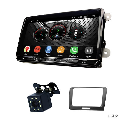 "VW10-S 9"" Car Radio+Fascia Kit Compatible with Skoda Superb 2008-2015"