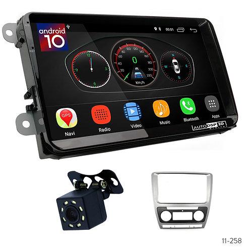 "VW10 9"" Car Radio Plus 11-258 Fascia Kit Compatible with Skoda Octavia 2008-2013"