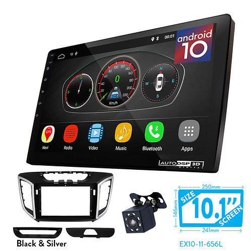 "10"" Android 10 Car Stereo + Fascia Kit for HYUNDAI iX-25 2014+; Creta 2015+"
