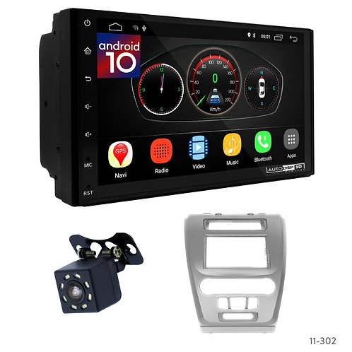 "7"" DSP Car Radio+Fascia Kit Compatible with Ford Fusion 09-12"